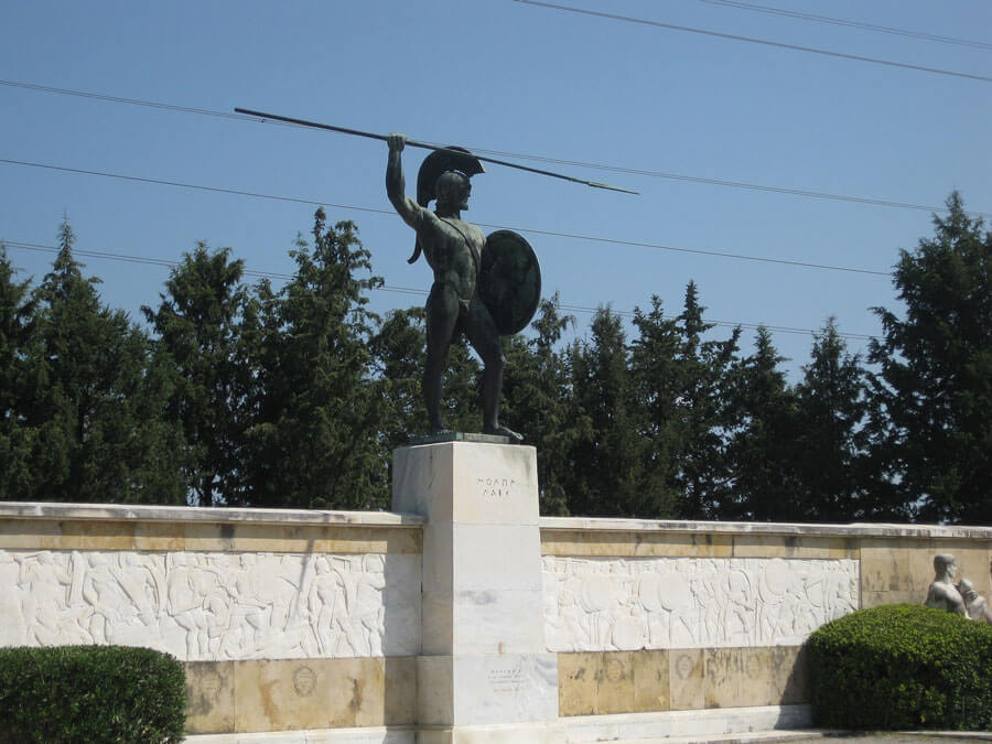Statue of Leonidas in Thermopylae