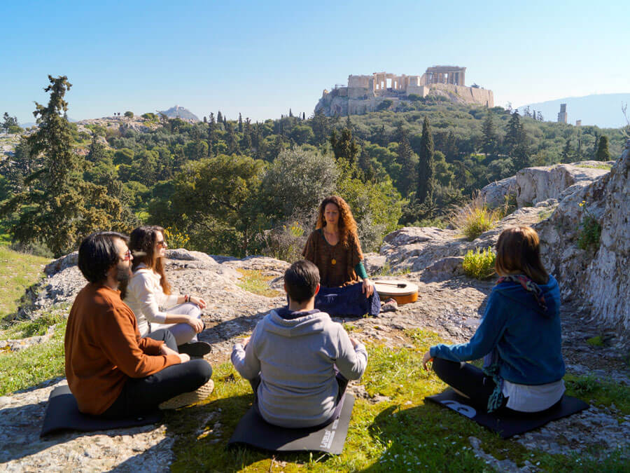 Meditation on Philopappos Hill across Acropolis