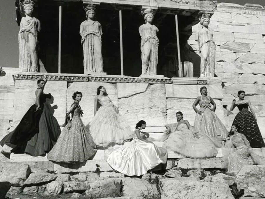 Dior Photoshoot at the Acropolis, 1951