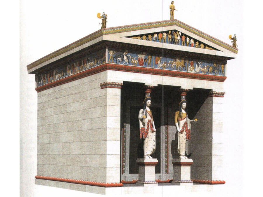 Reconstruction of the Siphnian Treasury at Delphi