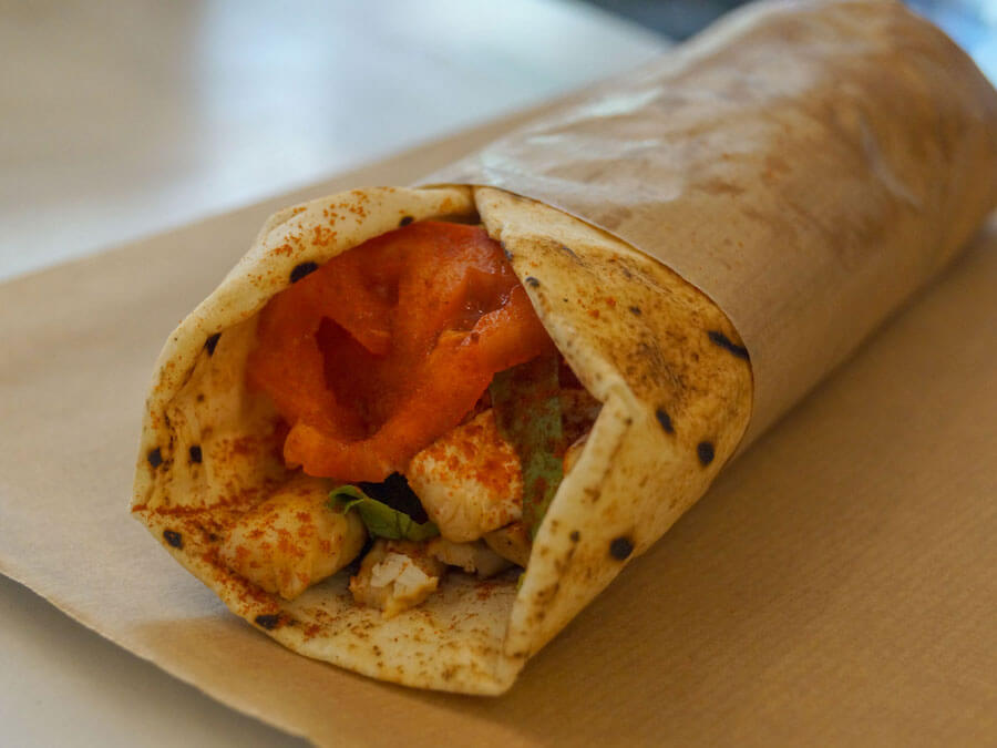 The famous Greek souvlaki prepared traditionally