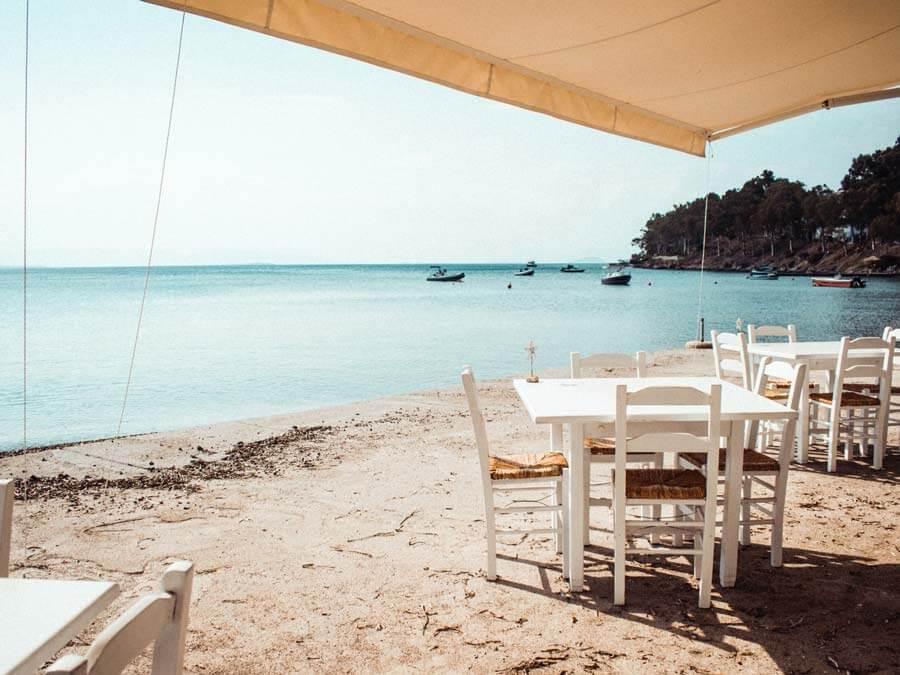 A tavern in Aegina island, day trip from Athens