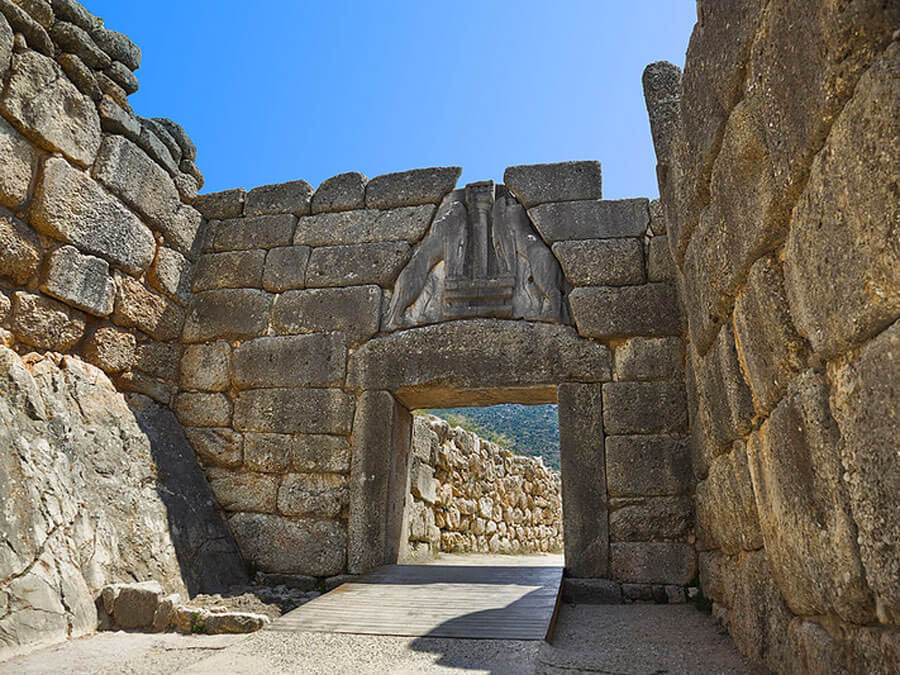 The Lion Gate of Mycenae, day trip from Athens