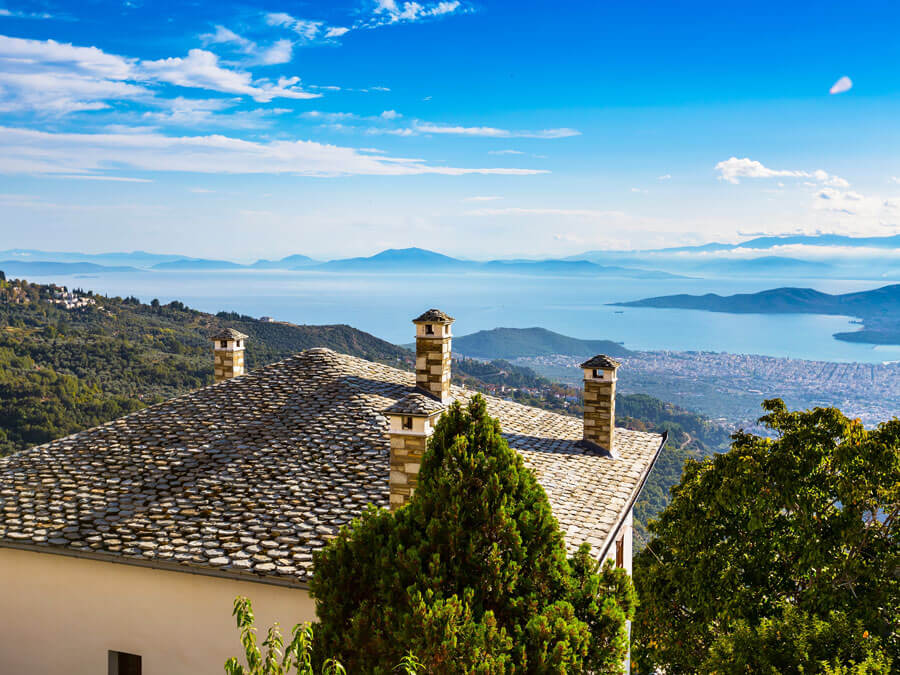 View from Makrinitsa, Pelion day trip from Athens