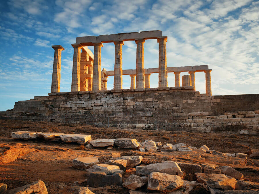Temple of Poseidon in Sounion, day trip from Athens