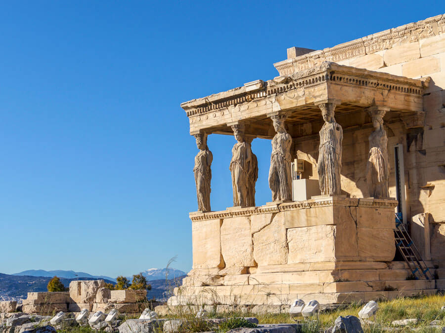 The Caryatids of Erechtheion on Acropolis, Athens