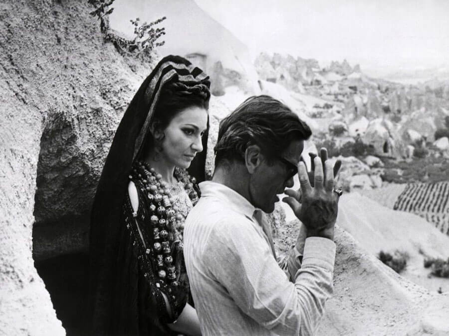 "Pier Paolo Pasolini and Maria Callas in ""Medea"""