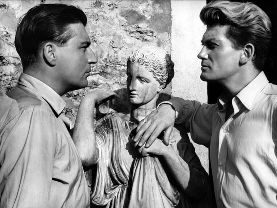 "Jean Marais and François Périer in ""Orphée"""