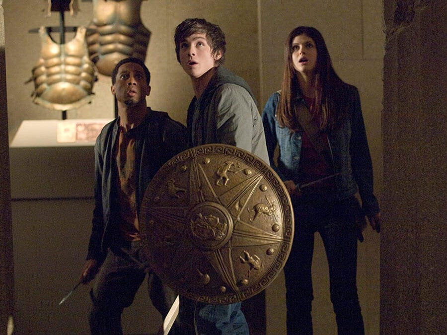 Logan Lerman, Brandon T. Jackson and Alexandra Daddario in Percy Jackson & the Olympians: The Lightning Thief (2010)