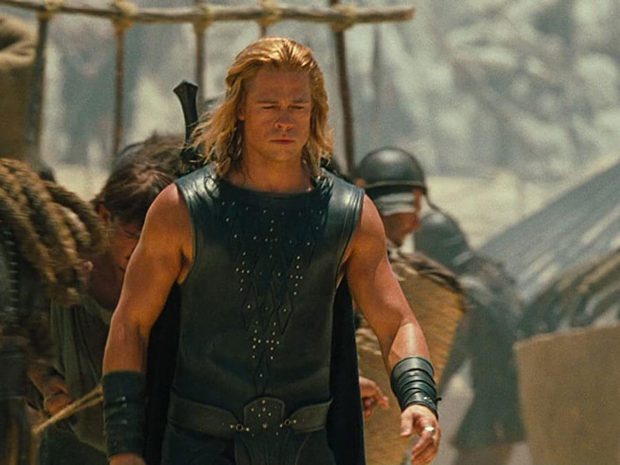 "Brad Pitt as Achilles in ""Troy"""