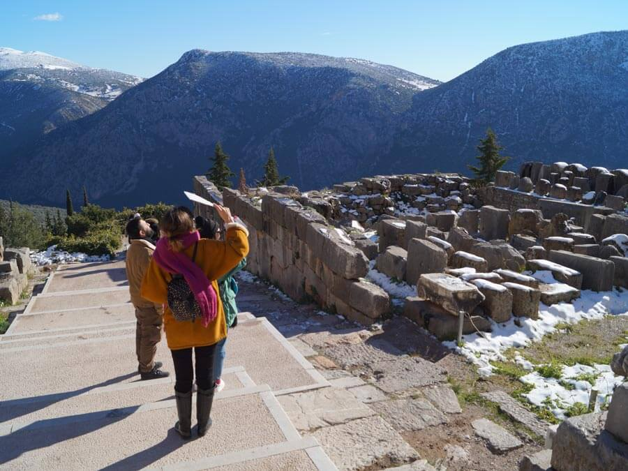 The archaeological site of Delphi