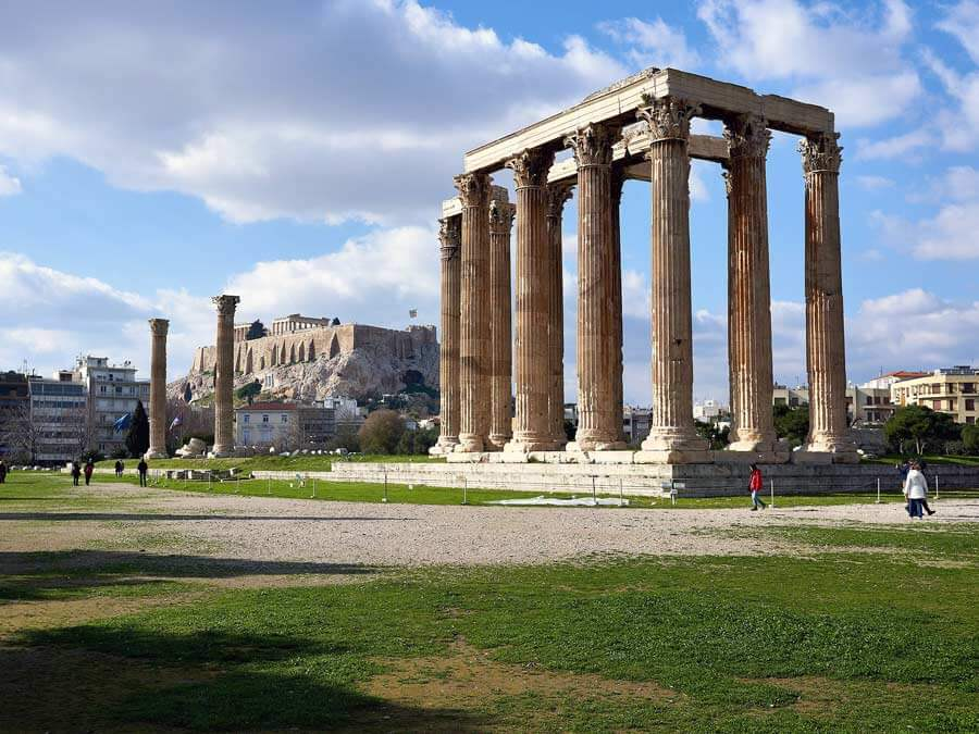 The remaining columns of the Temple of Olympian Zeus