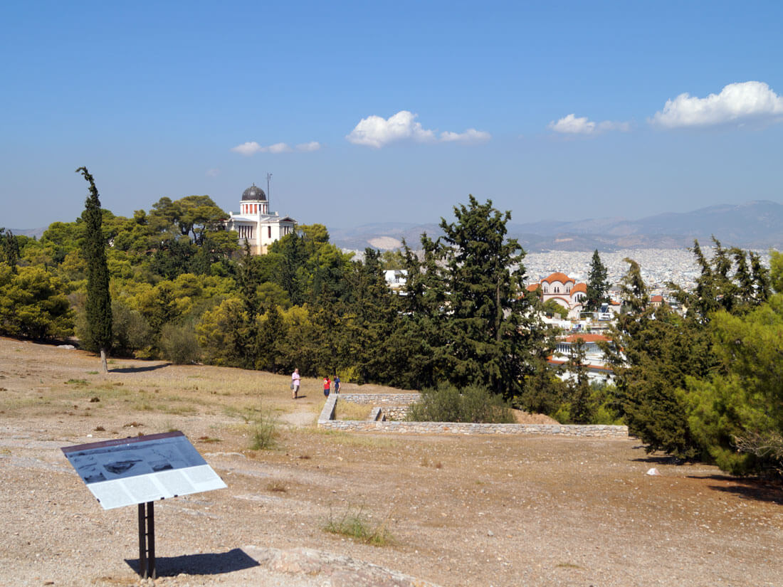 View from the Pnyx on Philopappos Hill