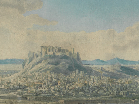 View of the city of Athens in 1784 (section)