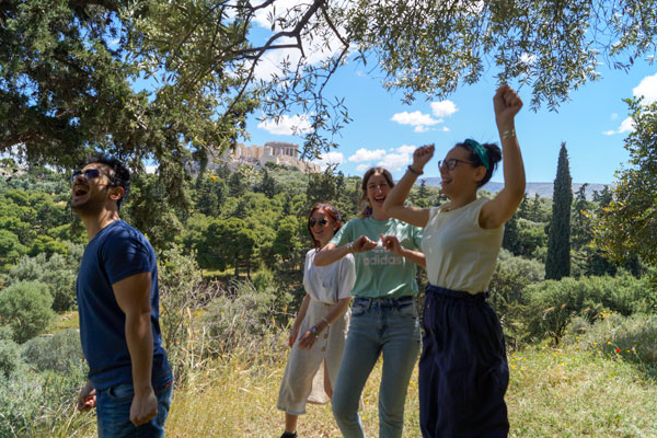 GreekTravelTellers walking tour Athens Filopappou Hill